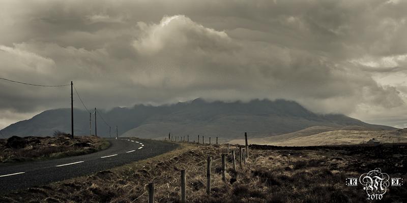 Sur la route du Connemara.